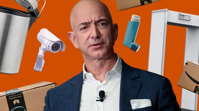 Jeff Bezos, ông chủ của Amazon hiện là người đàn ông giàu nhất hành tinh, nhưng ông cũng bị chỉ trích vì áp dụng chế độ hà khắc với người lao động (ảnh: Business Insider)