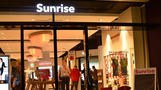 Người dùng tại Thụy Sĩ đang được tận hưởng dịch vụ di động 5G qua nhà mạng Sunrise