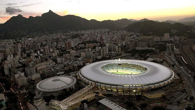 Trận chung kết sẽ được tổ chức trên sân vận động huyền thoại Maracanã, bang Rio de Janeiro có sức chứa 74.738 chỗ ngồi (ảnh LĐBĐ Brazil)