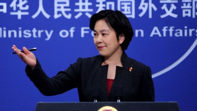 bà Hoa Xuân Oánh, người phát ngôn của chính phủ Trung Quốc chỉ trích Mỹ tiến hành cuộc chiến thương mại với ý đồ chính trị (ảnh YouTube)