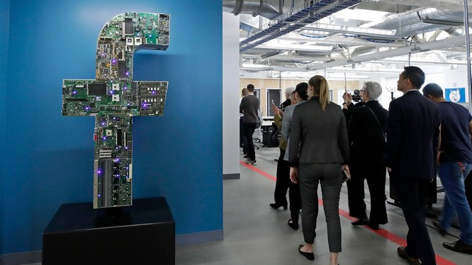 Một trong những văn phòng làm việc của Facebook (ảnh: AP)