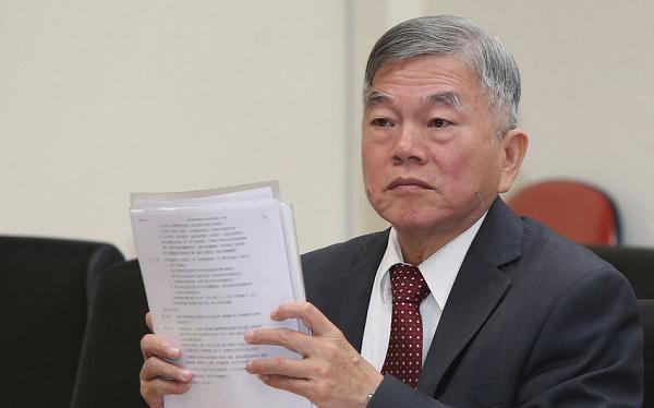 ông Thẩm Vinh Tân, Bộ trưởng Kinh tế Đài Loan (ảnh Central News Agency)
