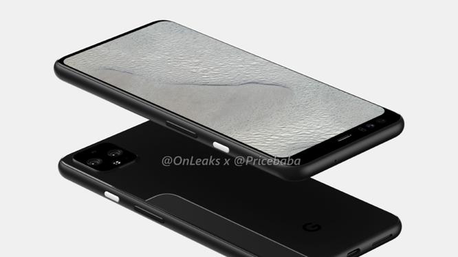 Pixel 4 XL có thiết kế mới mẻ so với các phiên bản tiền nhiệm (ảnh @OnLeaks)