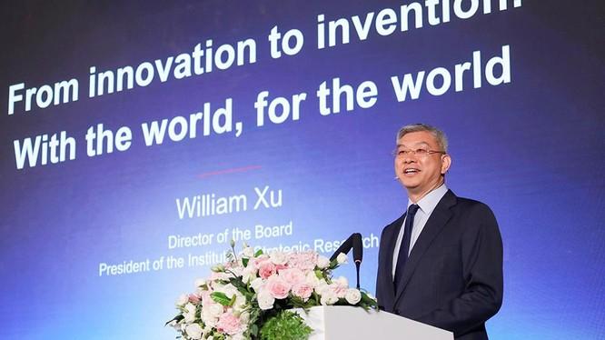 ông William Xu - Chủ tịch Viện nghiên cứu chiến lược của Huawei
