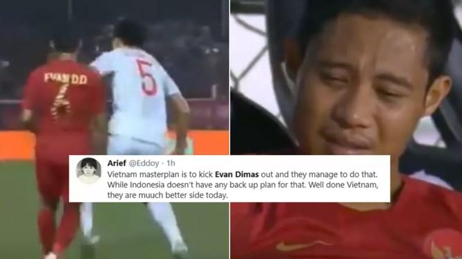 Người hâm mộ Indonesia đổ lỗi cho Văn Hậu (ảnh: Fox Sport)