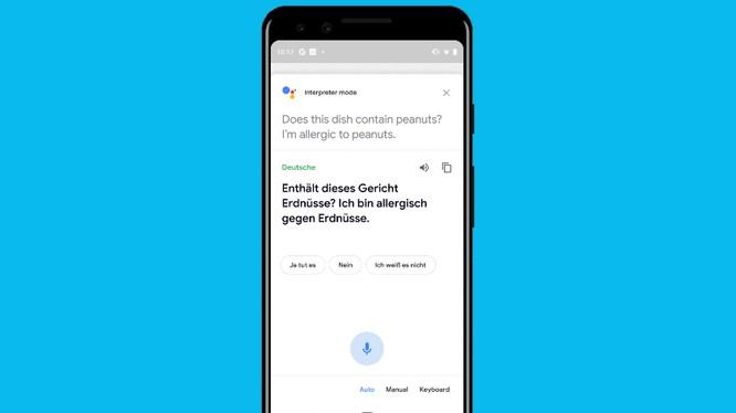 Tính năng phiên dịch theo thời gian thực của Google
