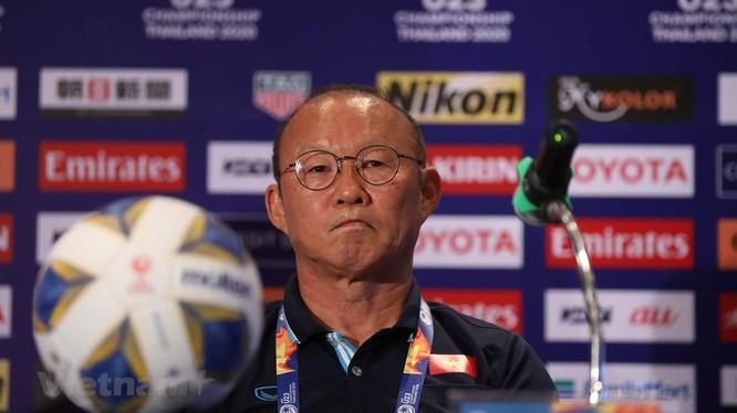 HLV Park Hang seo hài lòng với kết quả trận đấu (ảnh: Vietnam Plus)