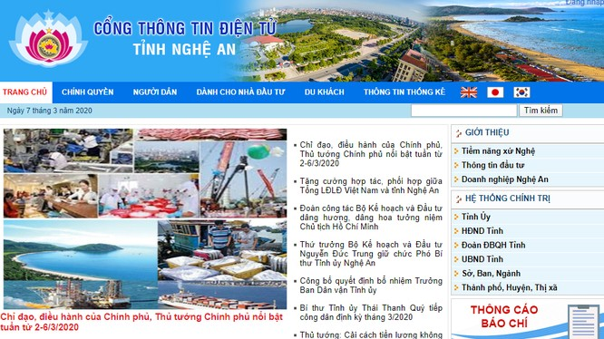 Cổng thông tin điện tử tỉnh Nghệ An