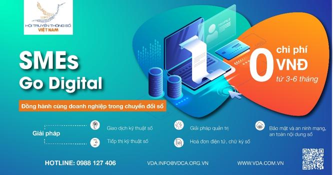 VIETNAM SMEs GO DIGITAL là chương trình hỗ trợ doanh nghiệp chuyển đổi số