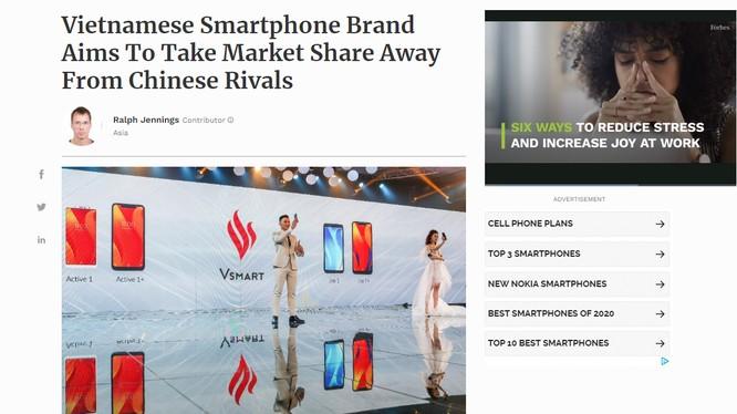 Bài viết về Vsmart trên Forbes