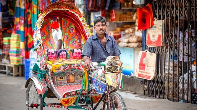 Xích lô là phương tiện giao thông ở nhiều nước châu Á