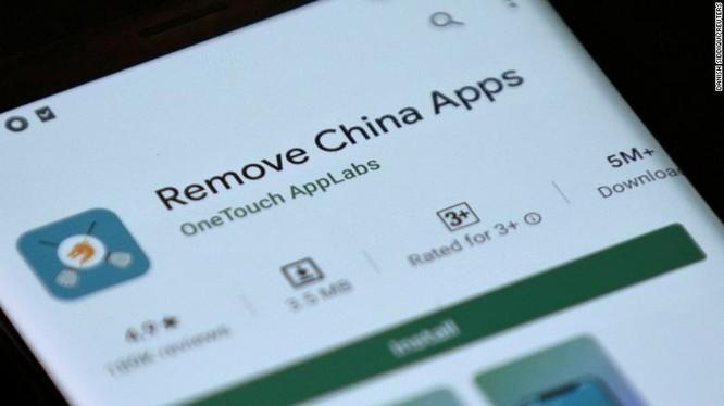 ứng dụng xóa app Trung Quốc (ảnh CNN)