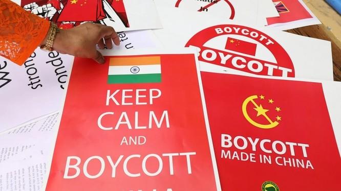 Mạng xã hội Ấn Độ đang kêu gọi tẩy chay hàng hóa Trung Quốc (ảnh: SCMP)
