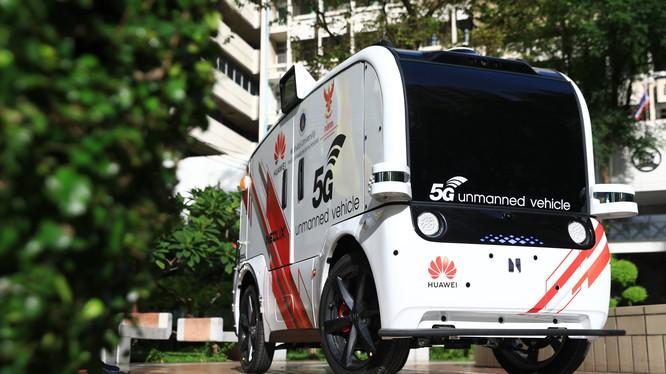 Xe tự hành 5G được thí điểm tại bệnh viện Thái Lan