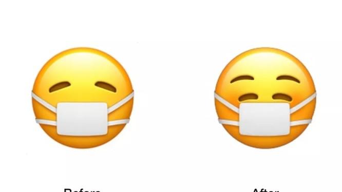 Biểu tượng cảm xúc trước đây và hiện tại mà Apple vừa cập nhật (ảnh: The Verge)