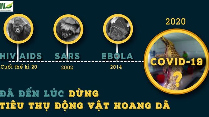 Nhiều dịch bệnh có nguồn gốc từ động vật hoang dã (ảnh: ENV)