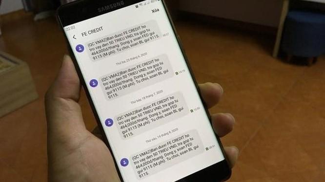 Tin nhắn rác gây cảm giác khó chịu cho người nhận