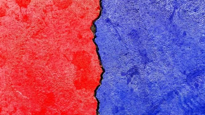 hai màu đại diện cho hai đảng phái chính ở Mỹ (ảnh: ShutterStock)
