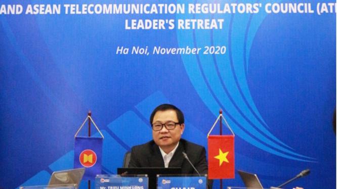 Ông Triệu Minh Long, Vụ trưởng Vụ Hợp tác quốc tế Bộ TT&TT. (ảnh MIC)