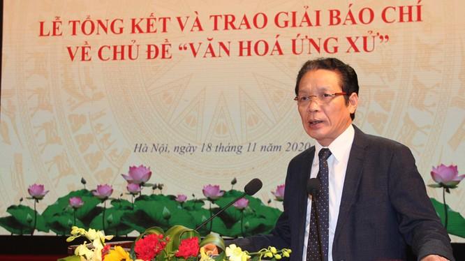 Thứ trưởng Bộ TT&TT Hoàng Vĩnh Bảo phát biểu khai mạc lễ trao giải.