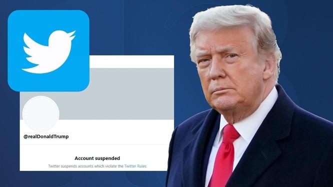 Tổng thống Trump đã bị Twitter cấm vĩnh viễn tài khoản (ảnh: Fox 13 News)