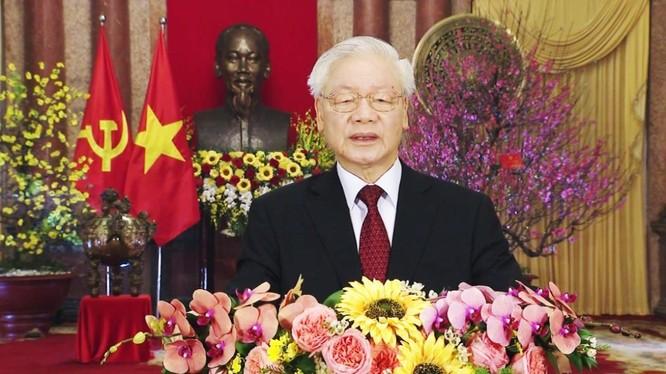 Tổng Bí thư, Chủ tịch nước Nguyễn Phú Trọng chúc Tết 2021