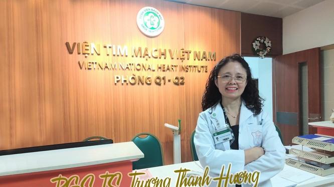 PGS. TS. Trương Thanh Hương ở Viện Tim mạch Việt Nam (Ảnh - Minh Thuý)