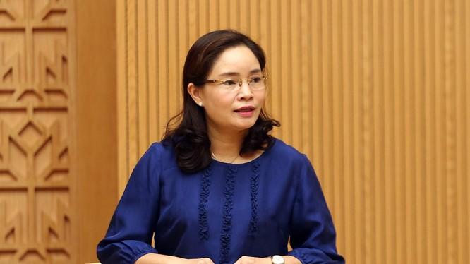 Thứ trưởng Trịnh Thị Thuỷ (ảnh: VGP)