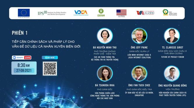 """Toạ đàm """"Dữ liệu xuyên biên giới và vấn đề bảo vệ dữ liệu cá nhân"""" được tổ chức trực tuyến"""