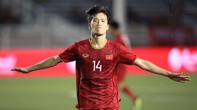 Hoàng Đức là cầu thủ được Sofascore chấm điểm cao nhất trong 2 trận đấu vòng loại thứ 3 World Cup 2022 của đội tuyển Việt Nam. Ảnh Viettel