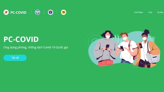 Website thông tin ứng dụng PC-Covid