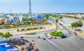 Một góc thành phố Vị Thanh, tỉnh Hậu Giang