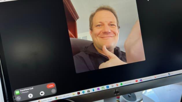 Cuộc gọi FaceTime trên máy tính Windows (Ảnh: CNBC)
