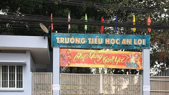 Trưởng tiểu học An Lợi, nơi thầy giáo Lê Trần Ngọc Sơn công tác
