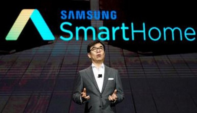 Samsung đang giới thiệu Samsung City tại CES 2018 (ảnh Reuters)