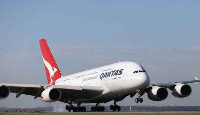 Chiếc Airbus A380 của hãng Qantas (Ảnh Qantas)