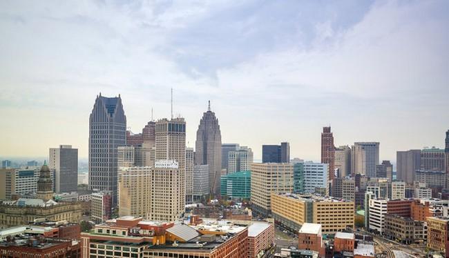 Thành phố Detroit, bang Michigan, một trong những thành phố đang khuyến khích người dân đến đây sinh sống (Ảnh Shutterstock)