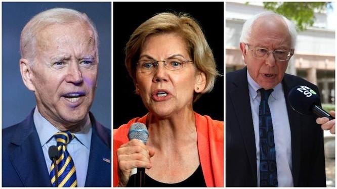 3 ứng cử viên đang dẫn đầu của Đảng Dân chủ (Ảnh: Getty)