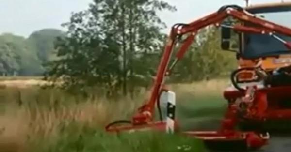 Việc cắt cỏ đường cao tốc ở nước ngoài được thực hiện bằng công nghệ.