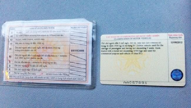 Ngày 31/12/2016, hoàn tất chuyển đổi giấy phép lái xe sang sử dụng vật liệu PET- (Ảnh minh họa).