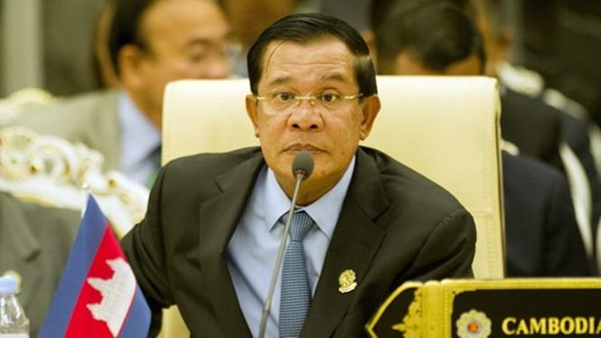 Thủ tướng Campuchia Hun Sen- Ảnh: AFP