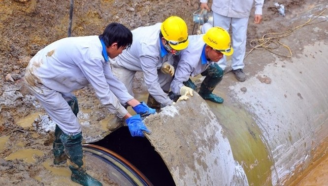 Đường ống nước sông Đà lại tiếp tục gặp sự cố - (Ảnh minh họa)