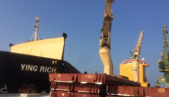 Tàu hàng Ying Rich tại cảng Sơn Dương - (Nguồn Internet)