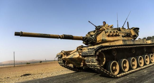 Xe tăng quân đội Thổ Nhĩ Kỳ ở Syria - (Nguồn Internet)