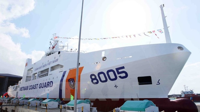 Tàu CBS 8005 vừa được bàn giao cho lực lượng cảnh sát biển Việt Nam