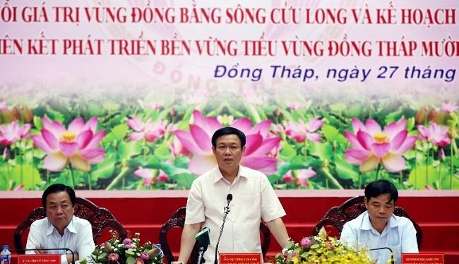Phó Thủ tướng Vương Đình Huệ chủ trì hội nghị - (Nguồn Internet)