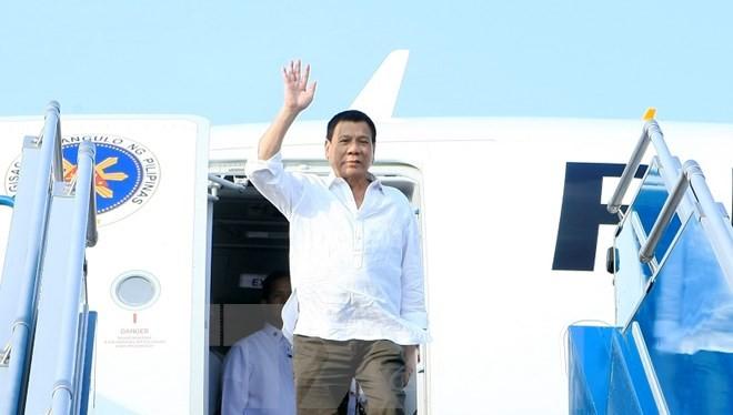Tổng thống nước Cộng hòa Philippines Rodrigo Roa Duterte chính thức thăm Việt Nam