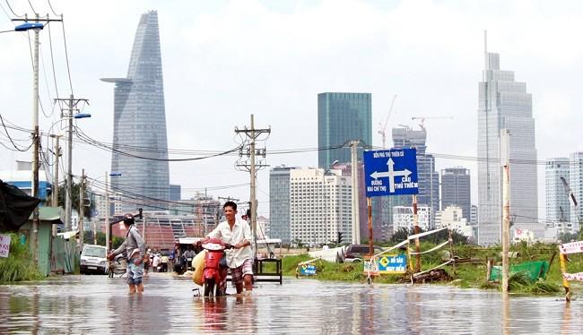 """Cảnh """"đường cũng như sông"""" ở TP. HCM - (Nguồn Internet)"""