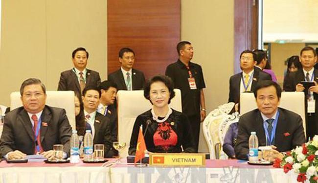 Chủ tịch Quốc hội Nguyễn Thị Kim Ngân dự Phiên họp Ban Chấp hành Đại hội đồng Liên nghị viện Hiệp hội các Quốc gia Đông Nam Á lần thứ 37 tại Myanmar (Ảnh: TTXVN).