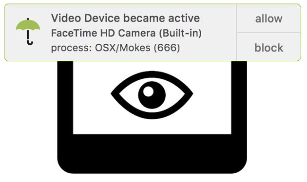 Với OverSight, người dùng Mac OS sẽ an toàn hơn khi sử dụng webcam và micro- (Ảnh: OVERSIGHT).